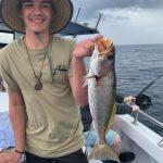 Man caught Yellowtail Kingfish in Summer 2018-2019