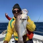 In Autumn 2019 Old Man showing a Snapper Fish