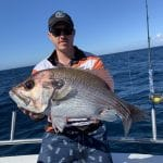 In Autumn 2019 Man Caught a Large Snapper Fish