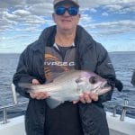 Snapper Fish caught by Man in Autumn 2019