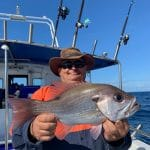 In Autumn 2019 Old Man showing a Big Snapper Fish
